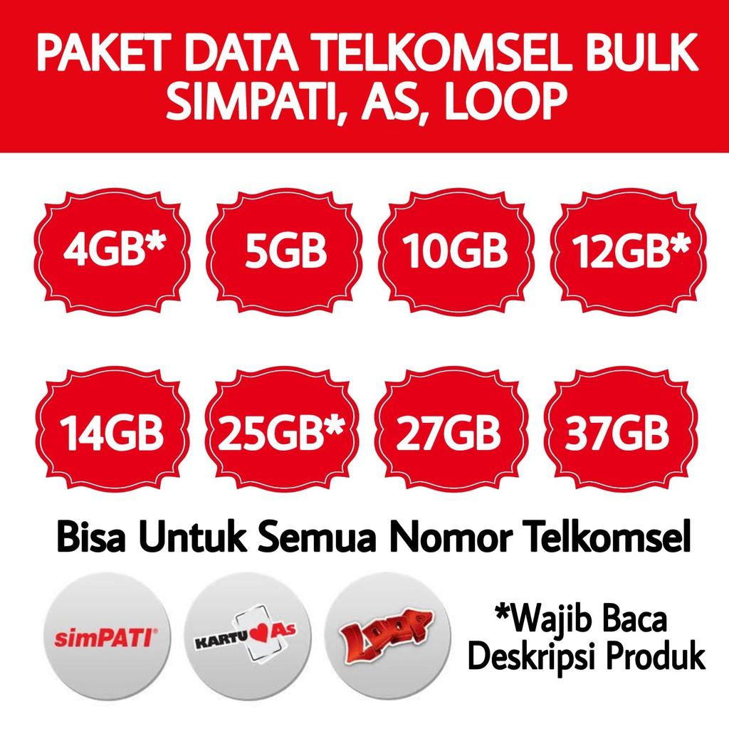 Paket Data Internet Murah Telkomsel Kartu As Shopee Indonesia Paketan 9gb