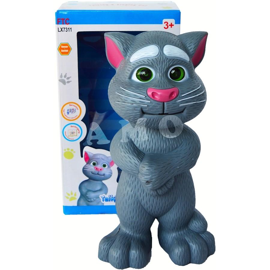 Mainan Anak Edukasi Robot Kucing Intelligent Talking Tom Cat Bahasa Indonesia Bernyanyi Mendongeng Shopee