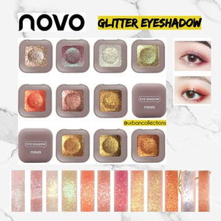 NOVO Glitter Eyeshadow Make up Shimmer Eyeshadow Pallette Waterproof ORIGINAL Novo Eyeshadow thumbnail