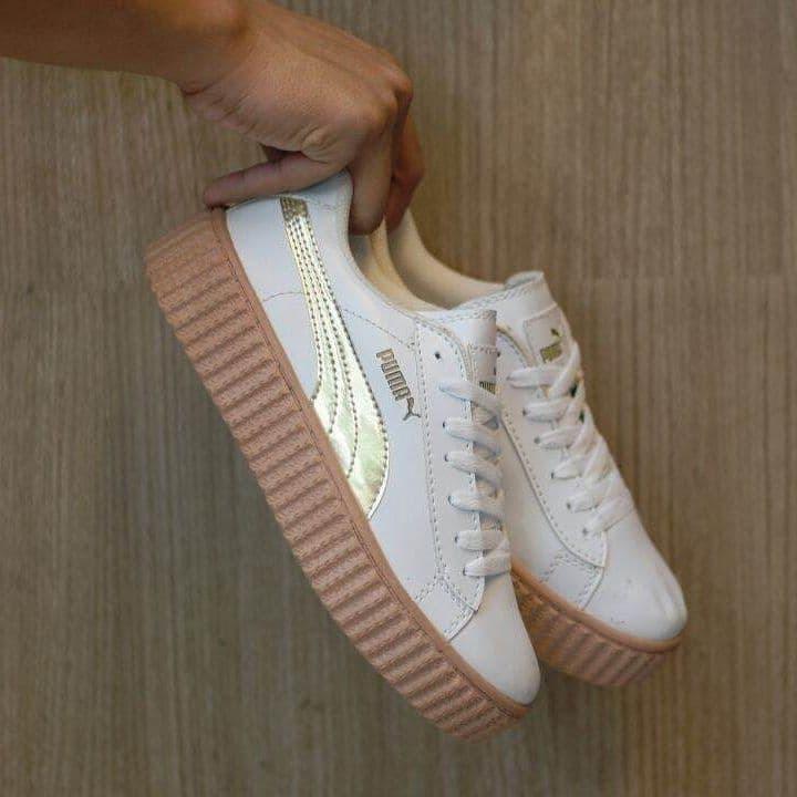 GREAT SALE Sepatu Puma Fenty Rihanna Putih Gold Cewe Wanita Casual Wedges  SPECIAL EDITION  464b001687