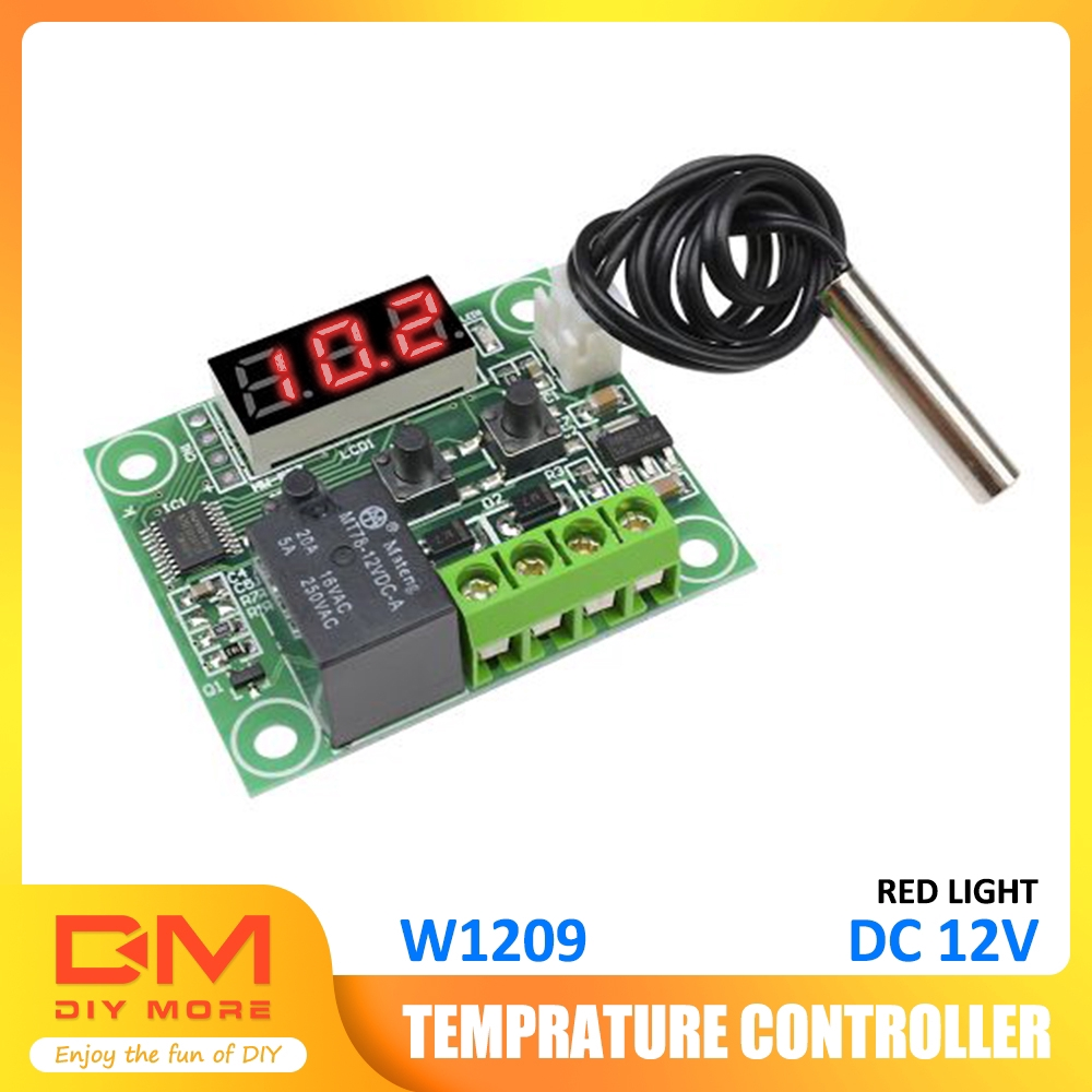 12V W1209 Digital Thermostat Temperature Controller Switch NTC10K 1/% 3950 Cable