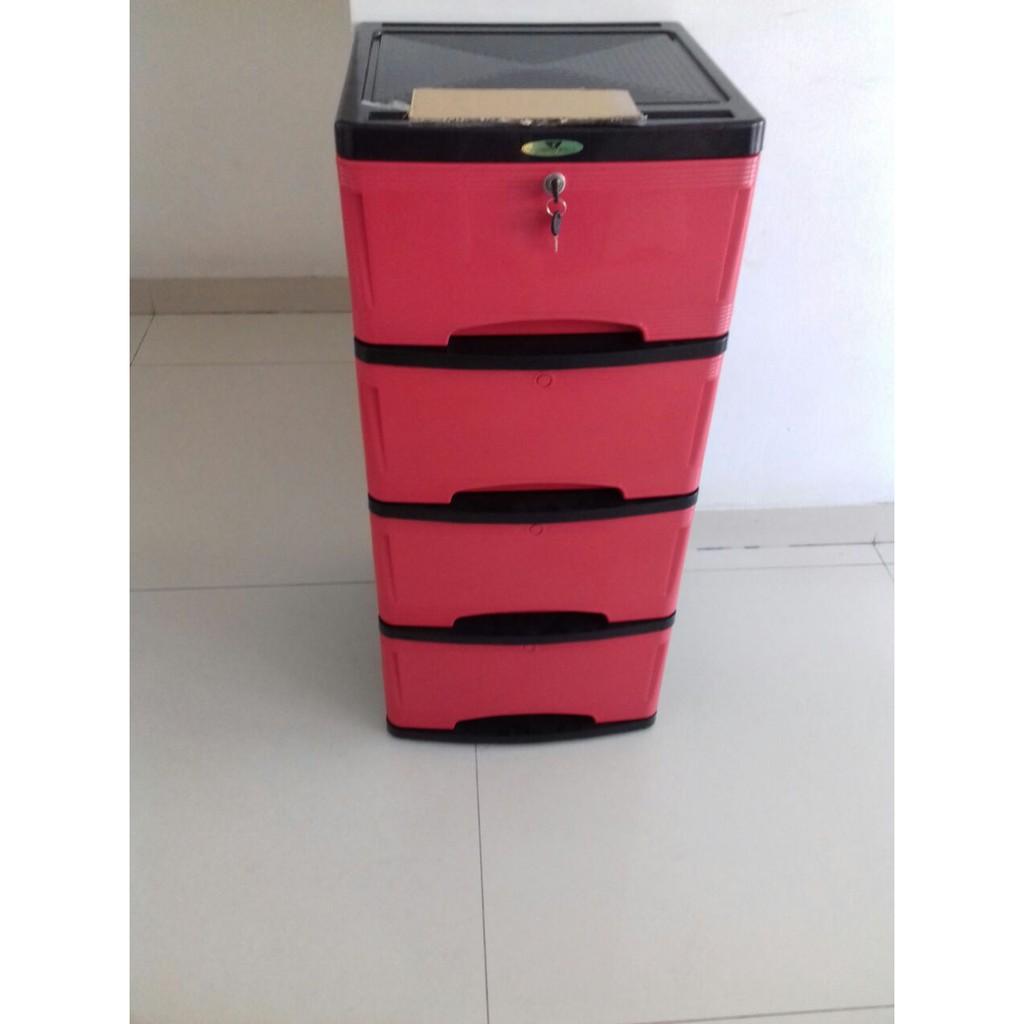 Rak Lemari Laci Filling Cabinet Kantor Plastik Kosmetik Kecil Untuk Miniclub Susun 4 Plasti Tv Shopee Indonesia