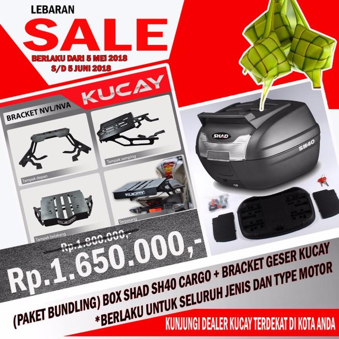 PROMO Harga Per Set Alias Kiri dan Kanan Tas Segitiga Side Bag Tutup Box Accu  Motor buat CB  82e41796eb