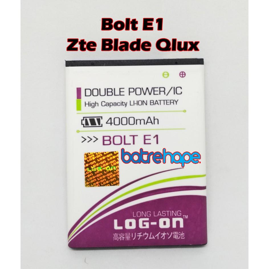 Baterai Battery Log-on Log on Logon Zte Blade Q Lux Qlux Bolt E1 Double Power   Shopee Indonesia