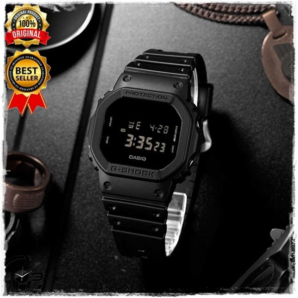 Jam Tangan Pria Casio G Shock Digital Jam Outdoor Garansi Original / Casio G-Shock DW 5600 BB 1