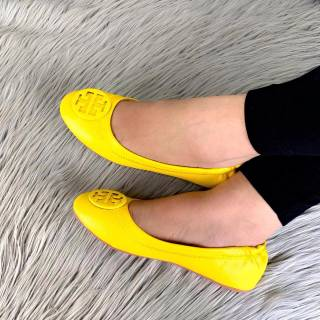 sells innovative design another chance TORY BURCH REVA Ballerina Leather Flats Spring Summer 2019 #A813 ...