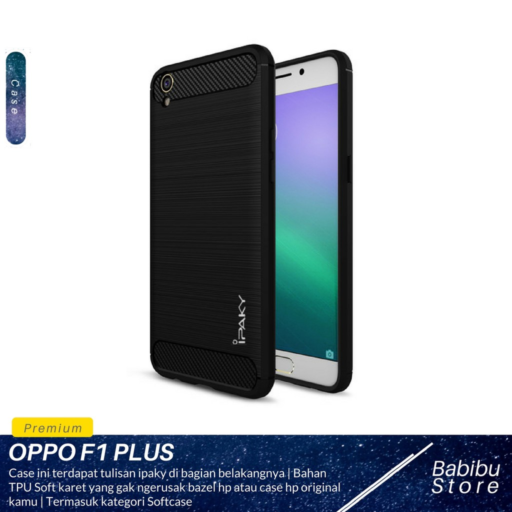 hot sale online 8db27 c5896 Case Oppo F1 Plus ( R9 ) iPaky Soft Carbon
