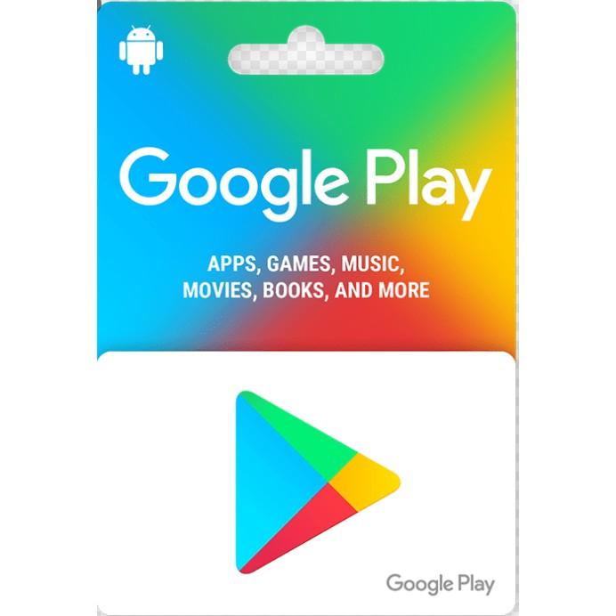 google play gift card usd via login