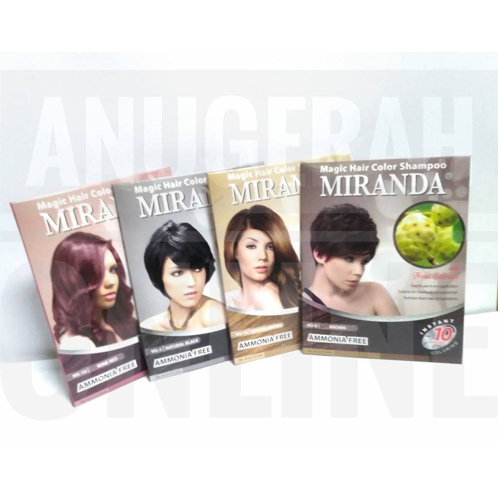 Miranda Magic Hair Color Shampoo Shopee Indonesia