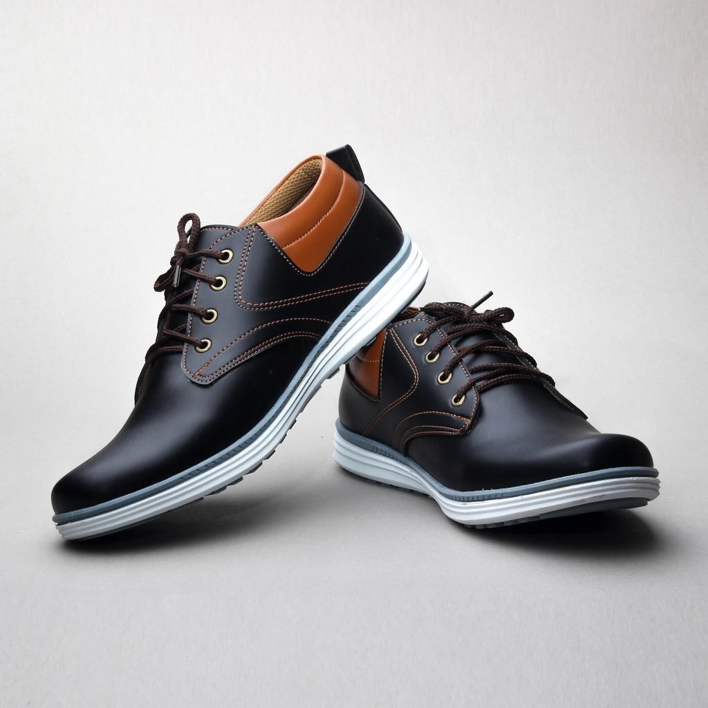 Salvo sepatu sneaker pria - A02 hitam merah  9ca381cfde