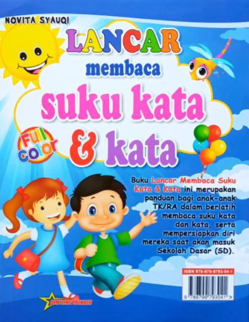 Buku Lancar Membaca Suku Kata Dan Kata Untuk Tk Dan Sd Full Colour Shopee Indonesia