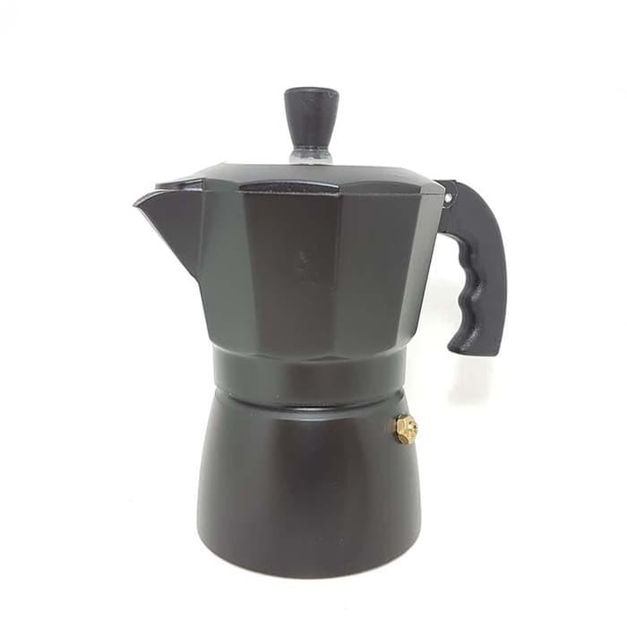EK 3/6 Cup Moka Pot Pembuat Espresso 8 Sudut Bahan Aluminium Warna Silver | Shopee Indonesia