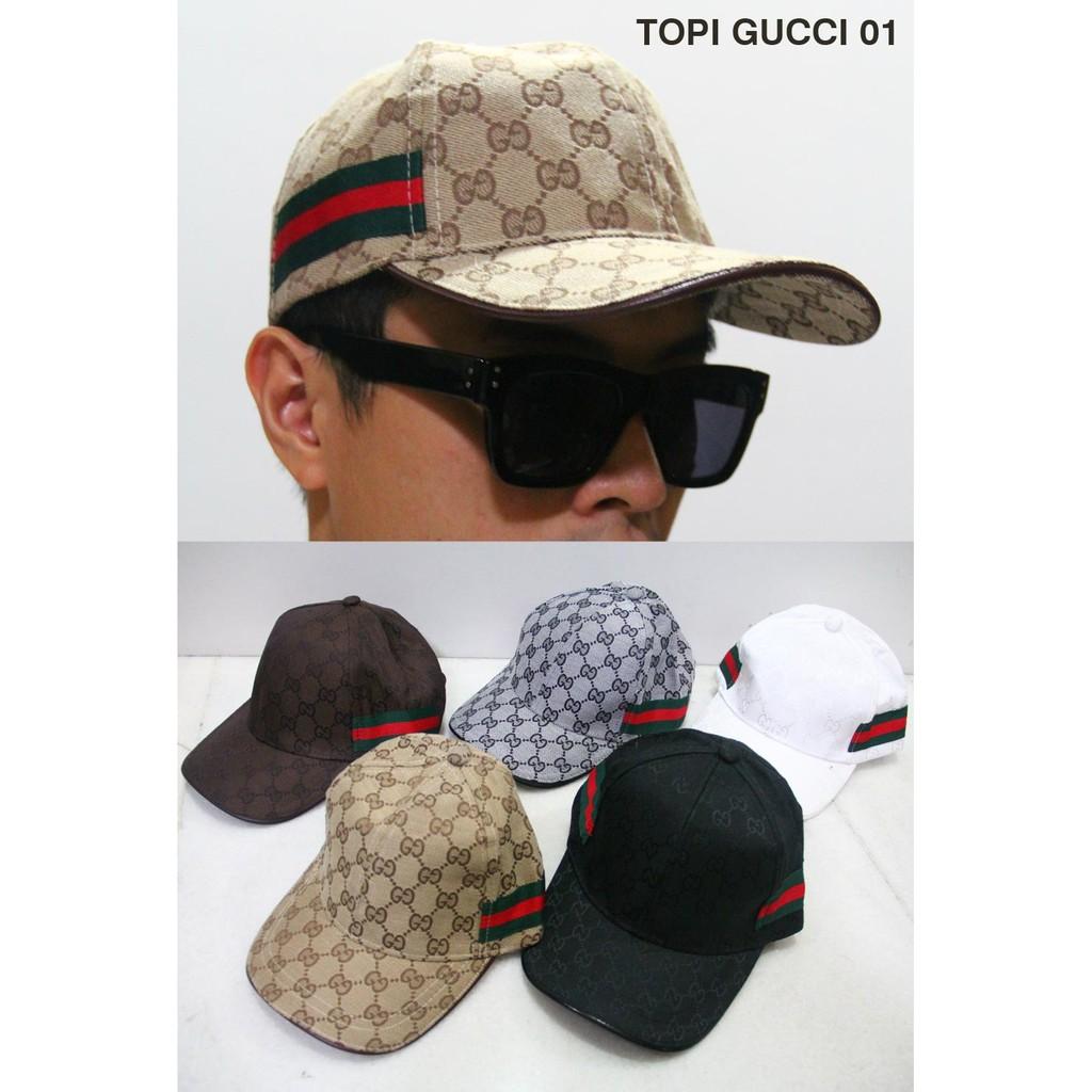 EXLUSIVE Topi Pria Gucci 01 Premium Import Topi Cowok Al Ronaldo TERMURAH  5478e30aef