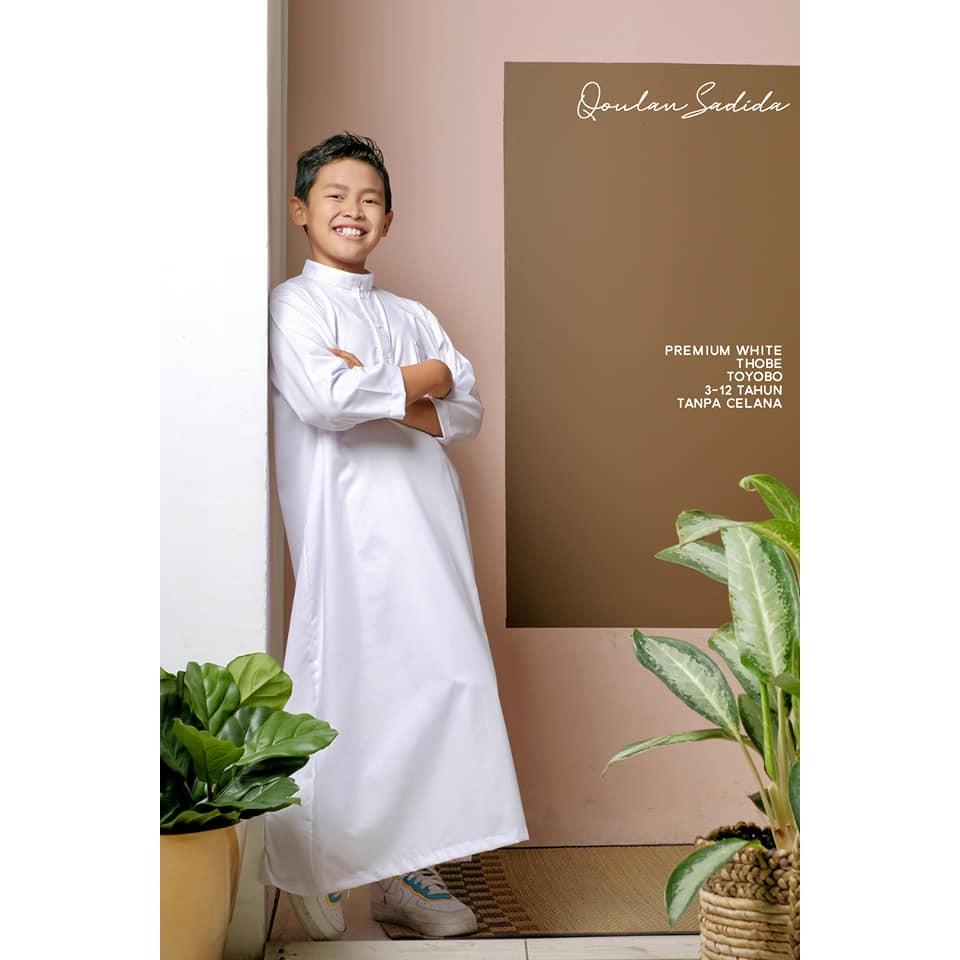Thobe/Jubah Anak Premium White by Qoulan Sadida