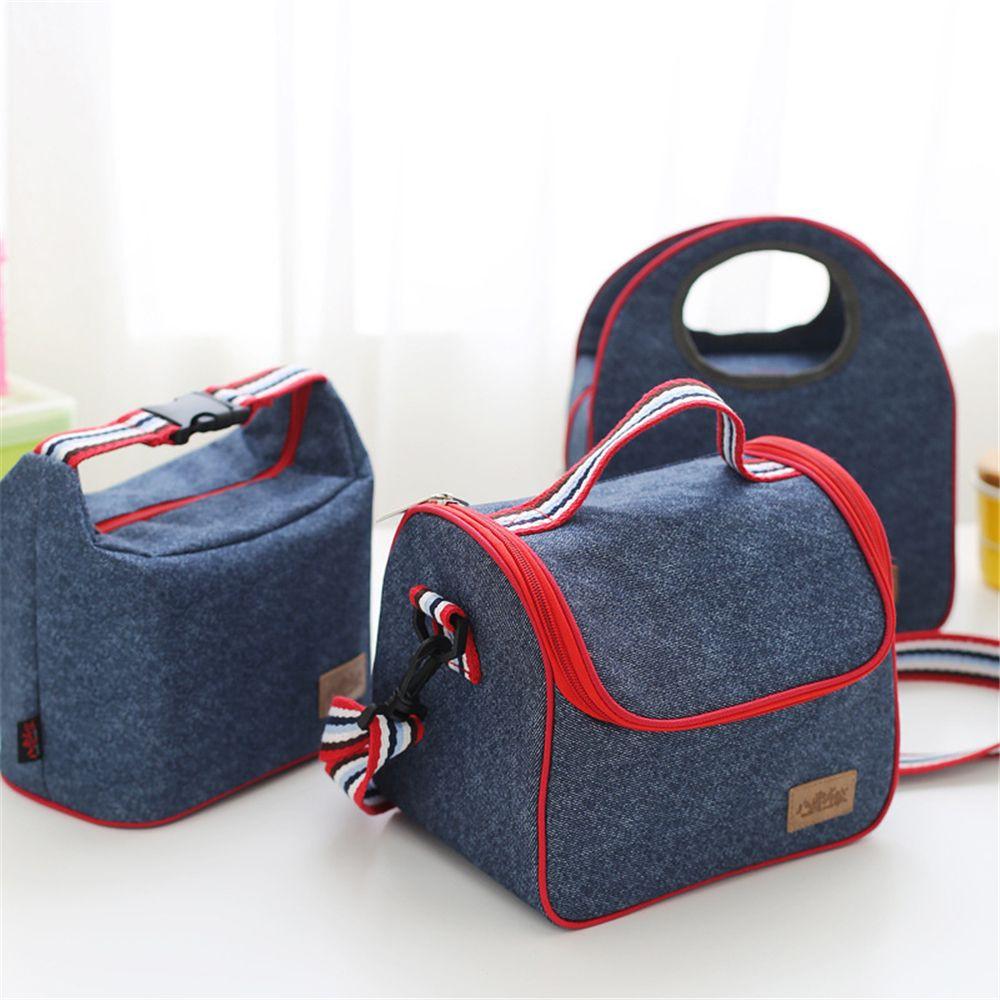 Usupso Concise Bento Bag With Alumunium Foil Tas Tempat Makan Teddy Bear Phone Chase Strip Blue And White Shopee Indonesia