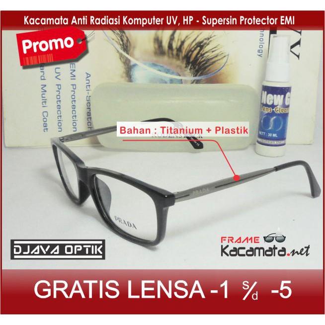 Frame Kacamata Minus - Lensa Baca Minus Antiradiasi - Kacamata Korea Kotak  Pria Wanita Cewek  db0a91f656