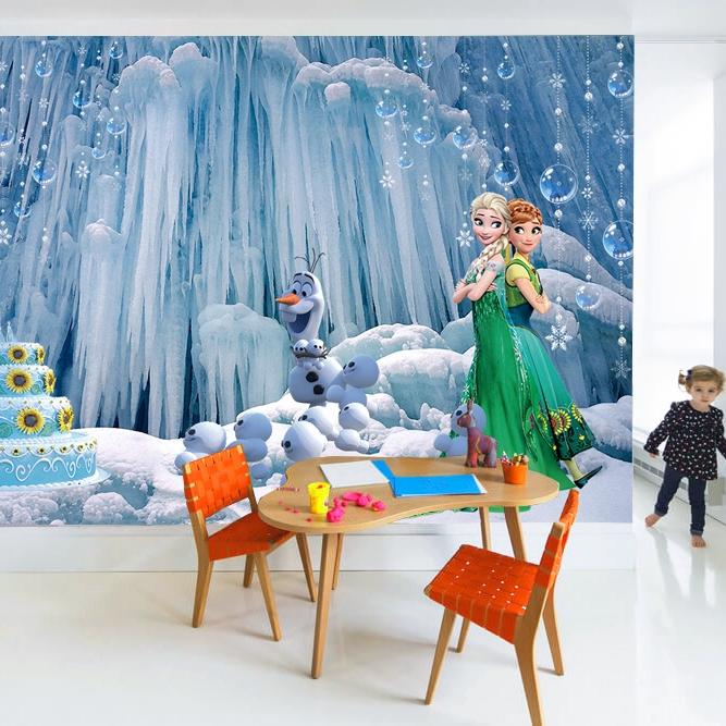Wallpaper Desain Kartun Frozen Princess Aisha 3d Warna Biru Untuk Kamar Anak Shopee Indonesia