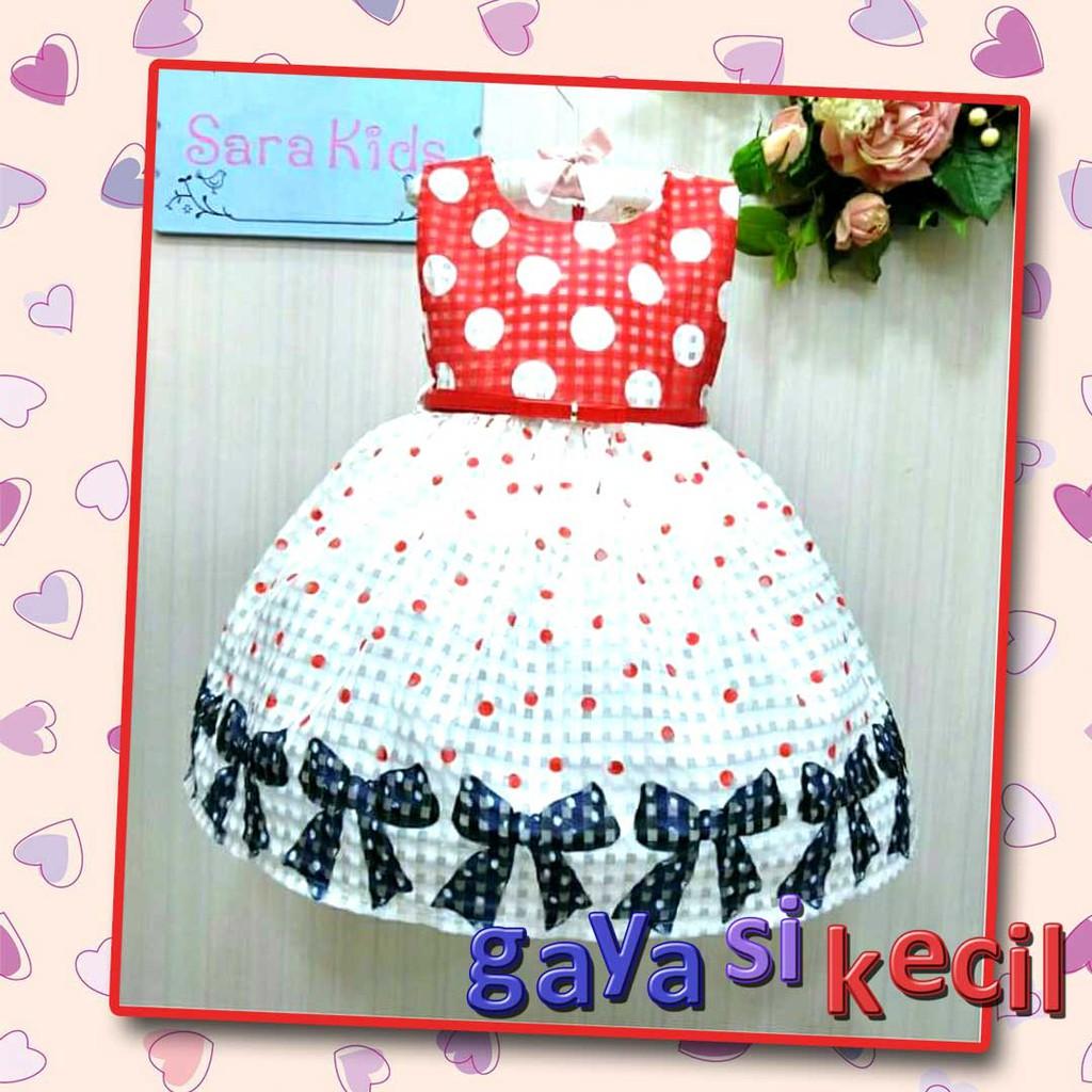 Dress Anak Perempuan 2 tahun Merah Polkadot Cantik 0a2b8b81b1