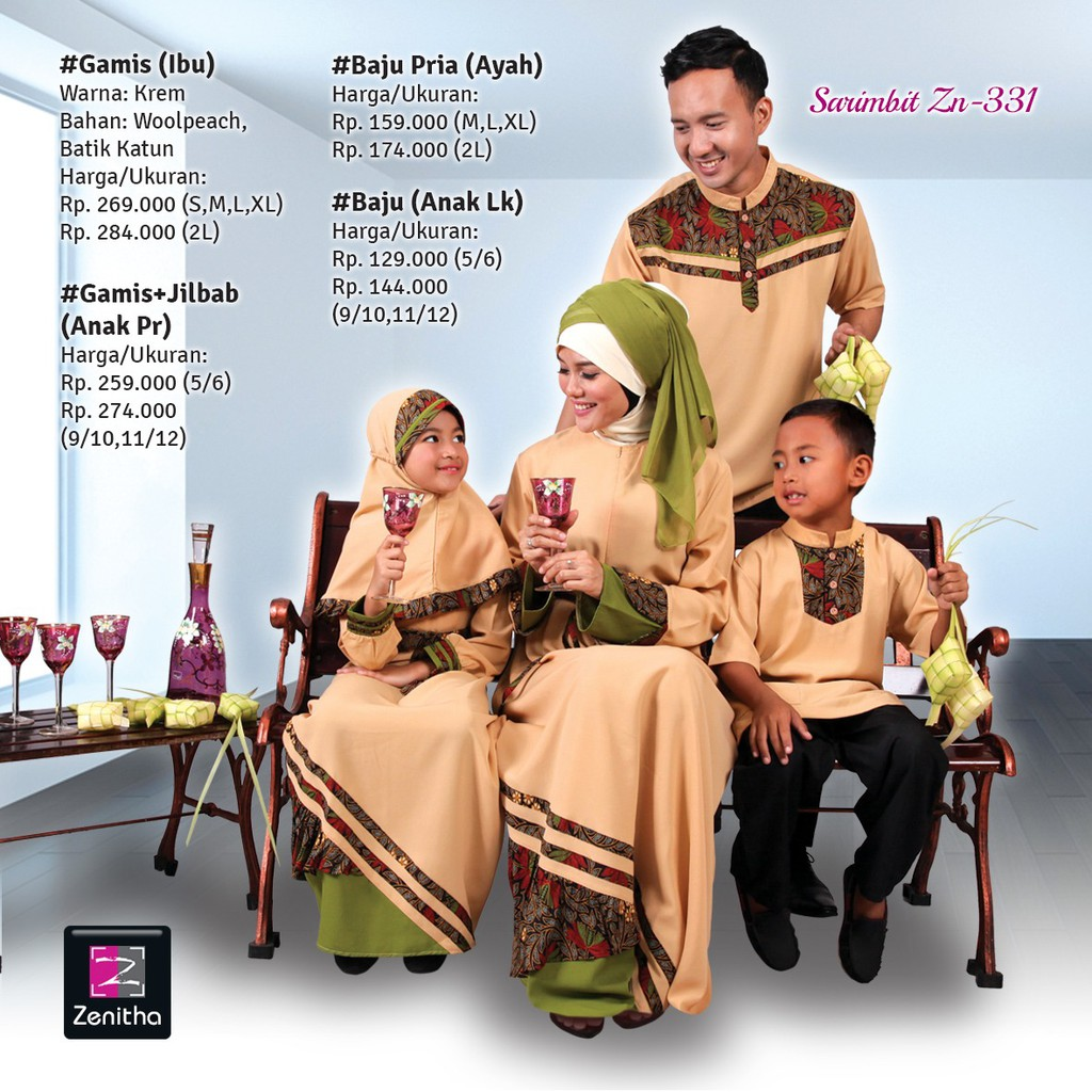 Sarimbit Keluarga Zenitha ZN 331 / Couple Muslim / Baju Keluarga | Shopee Indonesia