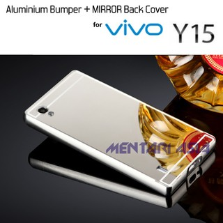 Casing & Covers Bumper Metal Mirror Alumunium Bumper Slide Vivo Y15. suka .