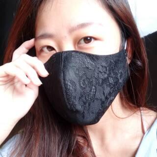 4D lace masker brukat Fashion sustainable Mask 3layer ...
