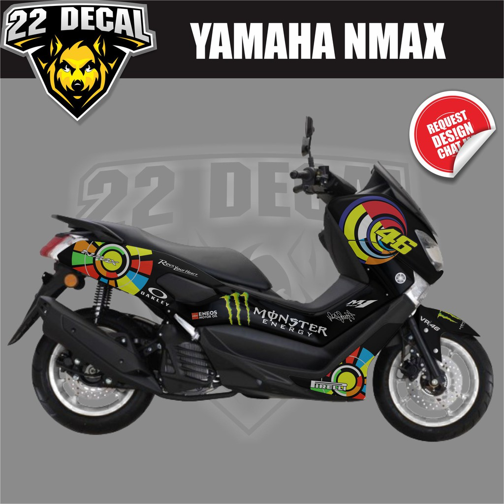Sticker cutting yamaha nmax stiker nmax hitam variasi gold shopee indonesia