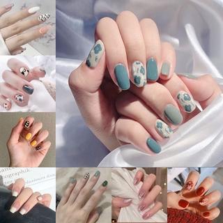 24pcs Kuku Palsu Lucu Dengan Lem Untuk Manicure R0102-R120 thumbnail