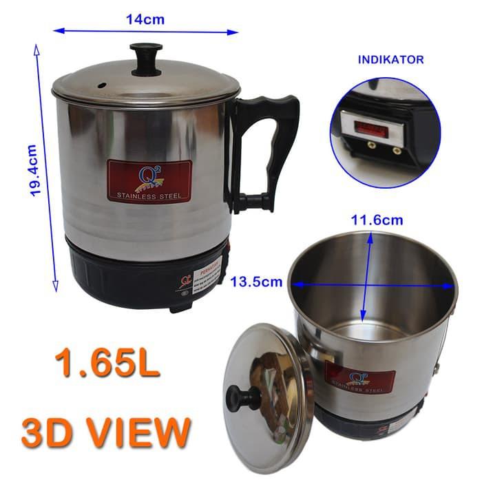 EELIC Pemanas Air / Mug-Teko Listrik / electric kettle 13mm 8013 190W | Shopee Indonesia