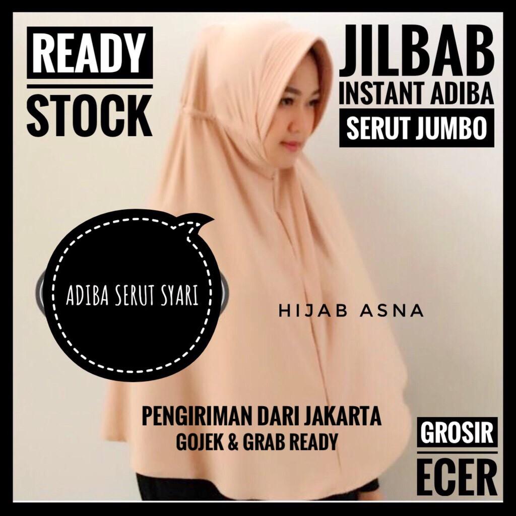 Jilbab Syari Xl Pet Antem Instan Jumbo Wolfis Kaos Serut Khimar Wanita Panjang Shopee Indonesia
