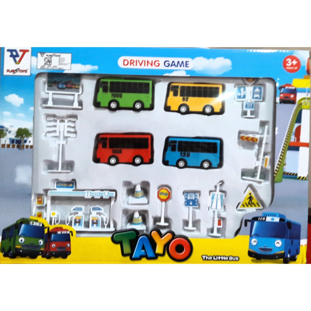Driving Game Parking Lot Little Bus Tayo Isi 4 Bus Little Tayo Shopee Indonesia
