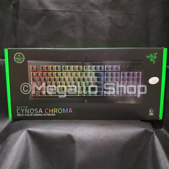 Keyboard Gaming Rf374 Razer Cynosa Chroma Hitam Shopee Indonesia