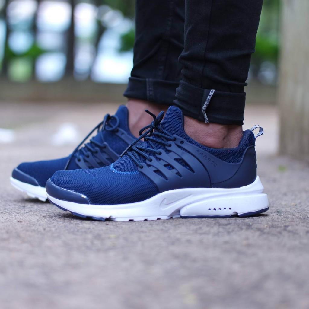 Nike Presto Woven Blue   Biru High Premium Original Sepatu Shoes ... 040217f5e8