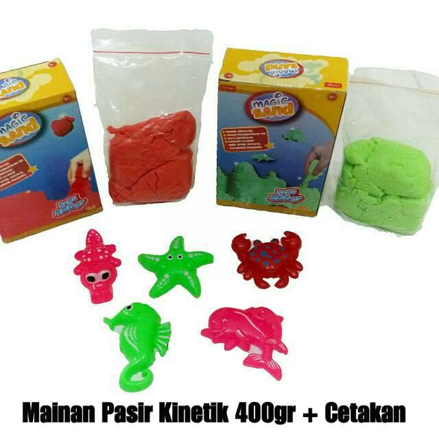 Mainan Edukatif Pasir Kinetik LE SAND Refill 500 gr Mainan Anak KUALITAS MANTAP | Shopee Indonesia