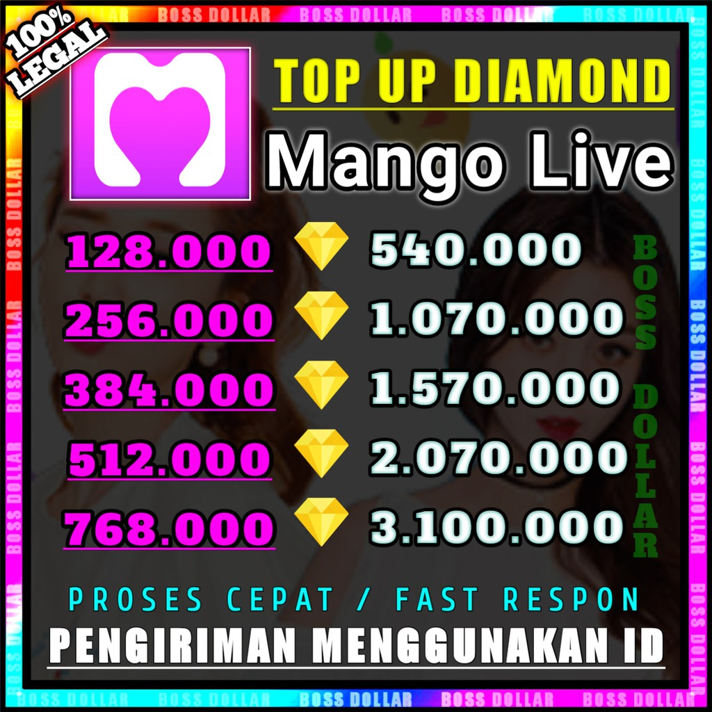 TOP UP DIAMOND MANGO LIVE TERMURAH #C3