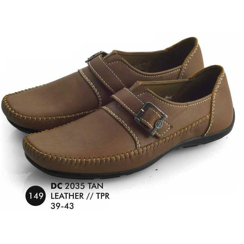 Produk Terbaru Sepatu Pria Casual Slip On Tan Kulit Asli Cibaduyut Bandung 3fef8ce299