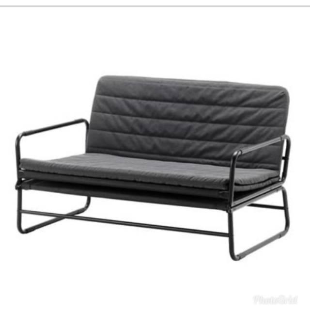 Sofa Bed Hammarn Ikea Abu Hitam 120cm