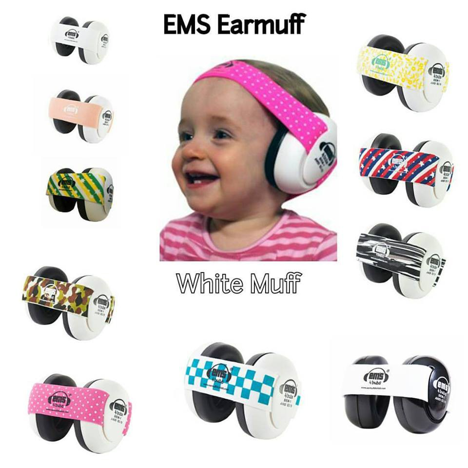 Ems Baby Earmuff White Bub Penutup Telinga Bayi Shopee Indonesia Adjustable Headband Army Camo For
