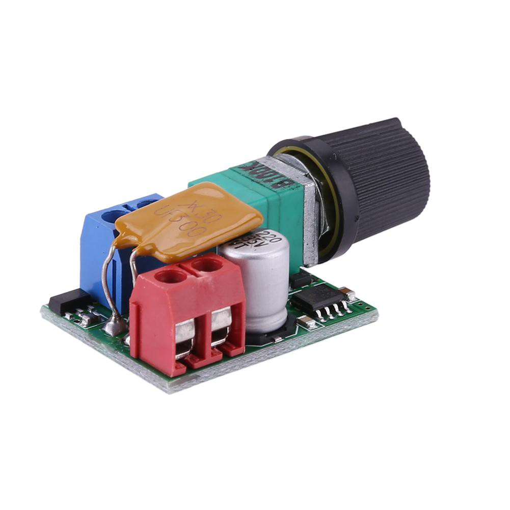 Mini DC 5A Motor PWM Speed Controller 3-35V Speed Control Switch LED Dimmer