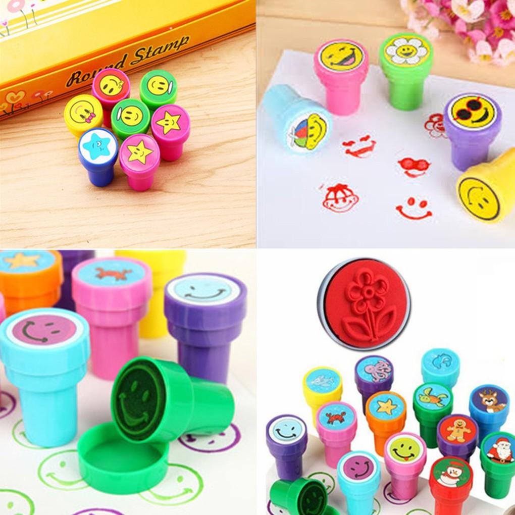 Cap Stempel Variasi Gambar Ekspresi Emoji Lucu Imut Kreatif Colorful Untuk Hadiah Nilai Anak