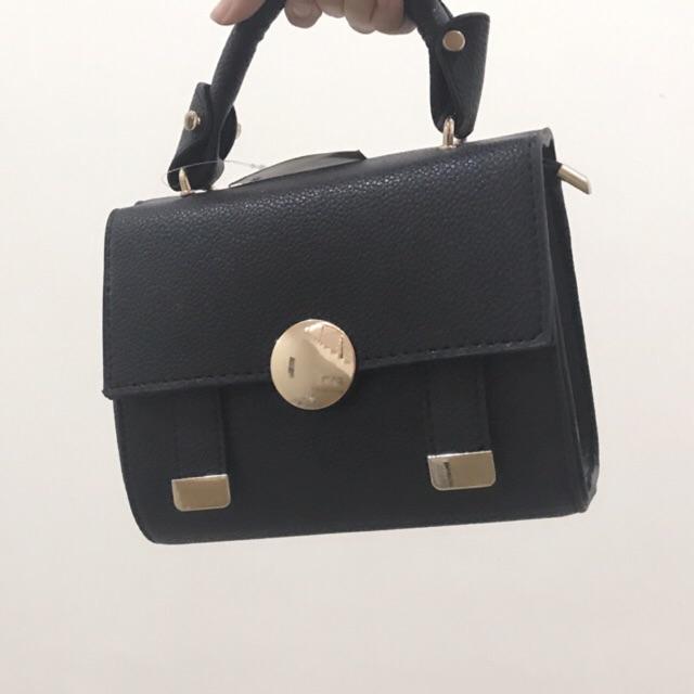 TK19 BLACK 20X8X16 Supplier tas import tas fashion bag grosir   Shopee Indonesia