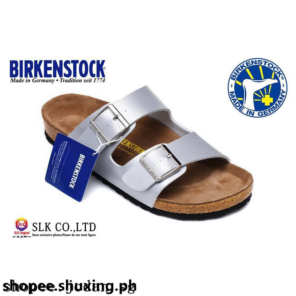 Birkenstock Men Women Leather Pattern Buckle Sandals Flip Fl Dr Kevin 97201 Brown Cokelat Muda 40 Shopee Indonesia