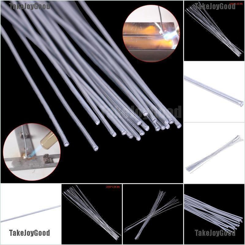 Silver 2.0mm 10pcs 500mm Low Temperature Aluminum Welding Rod Electrodes Sticks