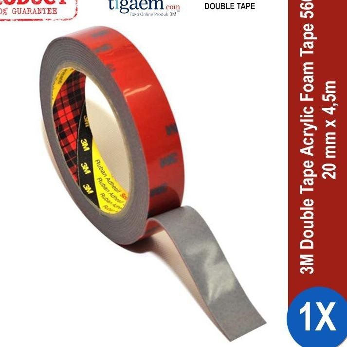 3m Aft Acrylic Foam Tape 5666 Tebal 1 1mm Size 20mm X 4 5m Double Tape Untuk Talang Air Mobil Shopee Indonesia
