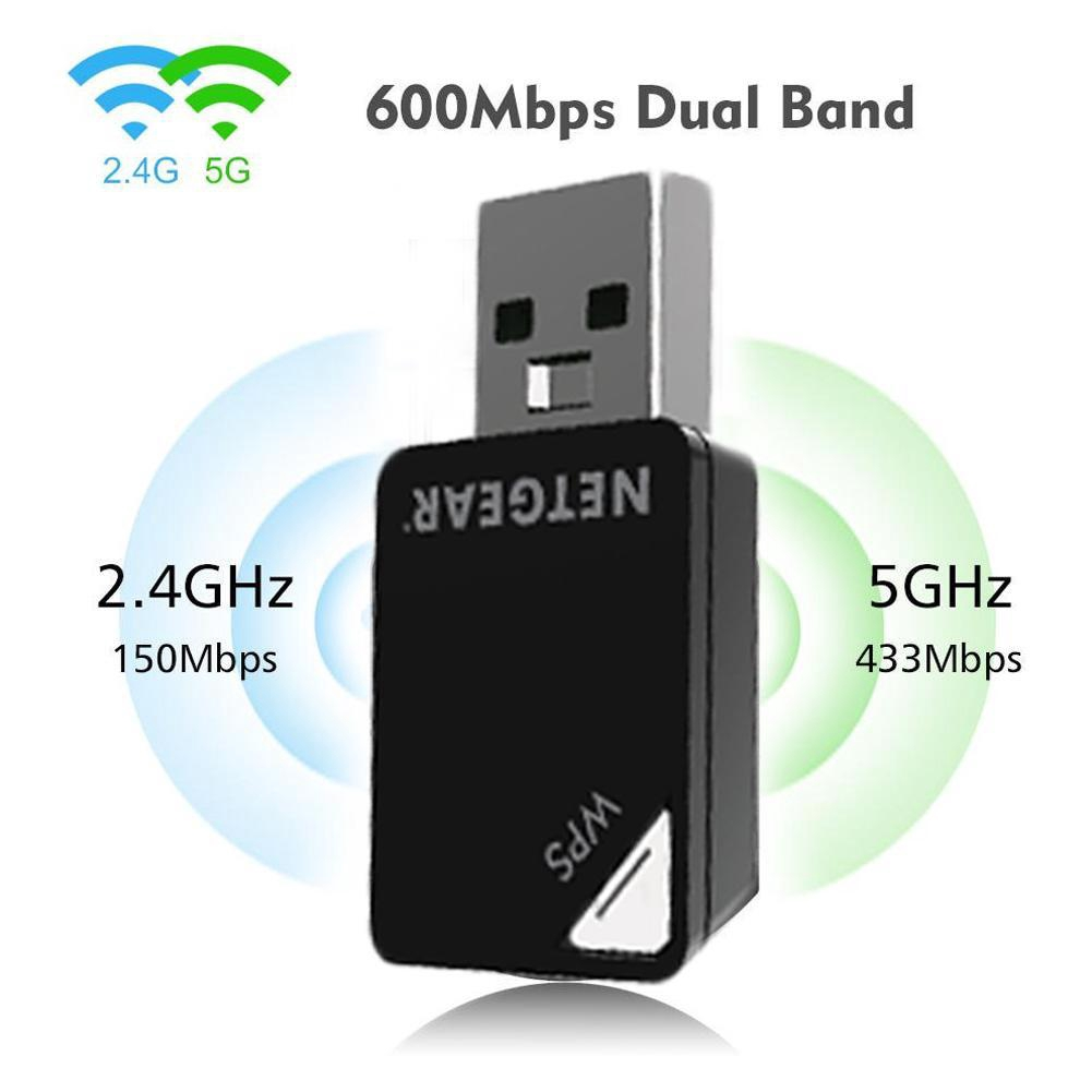 Mini NETGEAR AC600 A6100 Wireless N AC USB Network Gaming adapter Dual Band 5Ghz
