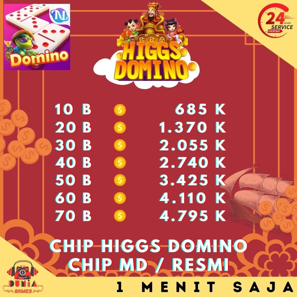 Top Up Higgs Domino Coin Koin MD Ungu - Domino Higgs Island Murah Cepat - Chip Higgs Island Hoki