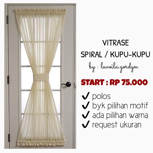 Vitrase Vitrage / Dalaman Tipis / Dalaman Gorden 1608 | Shopee Indonesia -. Source ·