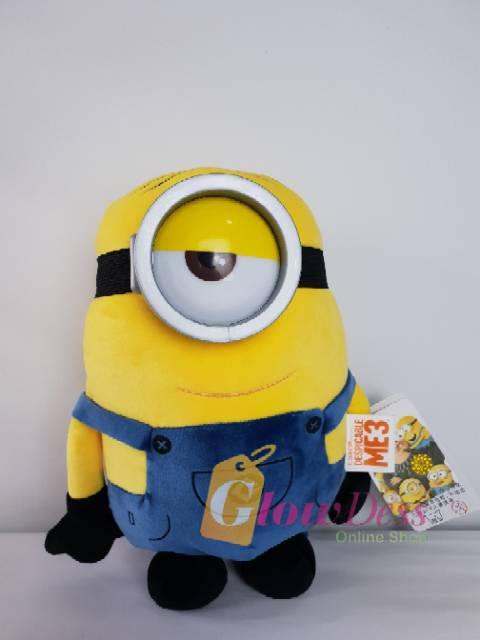 "Set Of 3 Jungle Minions 7/""//18cm Despicable Me Minions Plush Toy New /& Tagged"