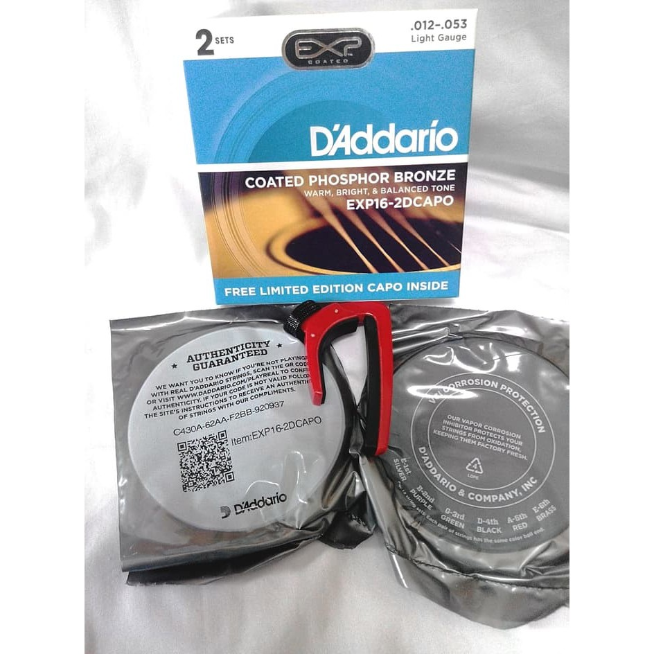 Daddario 2set Capo Exp 26 2d Original Senar Akustik 011 Jalan Asia Ed Dyneema Pancing Referensi