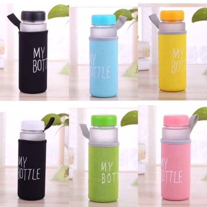 My Bottle Doff / Buram 13 Warna Sarung Busa / Ada Logo Bpa Free/ Anti Pecah & Tahan Air Panas | Shopee Indonesia