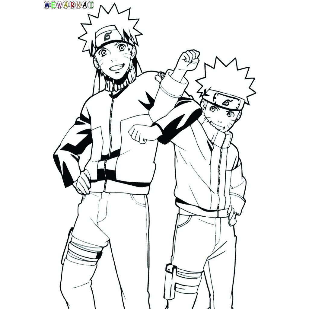 Paket Mewarnai Bisa Dipajang Naruto